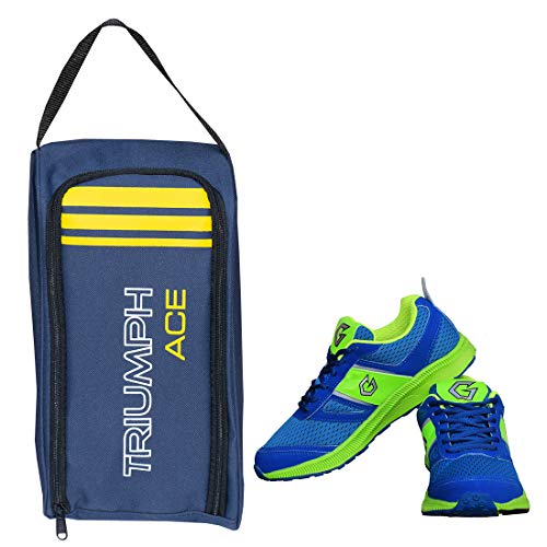 [Apply coupon] Gowin Bright Blue/Green Size-6 with Triumph Shoe Carry Bag Ace Kb-802 Navy/Yellow