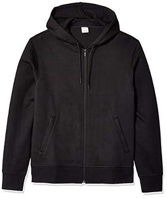 Amazon Essentials Men's Water-Repellent Thermal-Lined Full-Zip Fleece Hoodie, Black, Large from Amazon Essentials