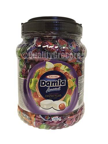 Damla Assorted Soft Candy Center Filled Fruit Chew 850 gram, 29.98 ounce