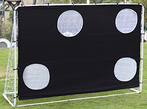 Ubon 3 in 1 Soccer Goal Target Nets with 4 Scoring Zones Backyard Soccer Rebounder for Practice Team or Solo Training Improving Shooting Accuracy Weatheproof Soccer Trainer 7ftx5ft