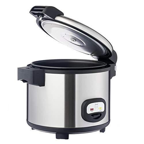 Metro Professional Reiskocher GRC1950 | 12 Liter | 1290 Watt | Warmhaltefunktion | auch für gewerblichen Einsatz | Antihaftbeschichtung | Doppelwandiges Edelstahlgehäuse | Mit Löffel und Messbecher
