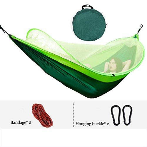 Hamacs balancelles et Accessoires en Parachute ultraléger Adulte extérieur Plus de moustiquaire à Large Bande Balançoire Simple dortoir Double intérieur pour Enfants Poids jusqu'à 200kg (