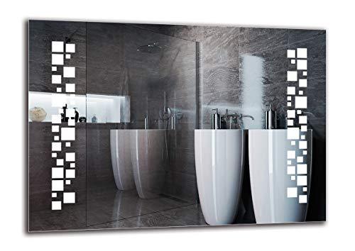 Specchio LED Premium - Dimensioni dello Specchio 70x50 cm - Specchio per Bagno - Specchio a Muro - Specchio con Illuminazione - Pronto per Essere Appeso - ARTTOR M1ZP-46-70x50 - Bianco Freddo 6500K