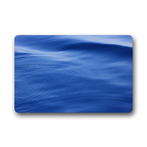 Doubee Design Bleu Sea Vagues Paillasson Premium Tapis Anti-Poussière passwort Jardin à la Maison en Plein air intérieur 46 cm x 76 cm, Tissu, E, 18\