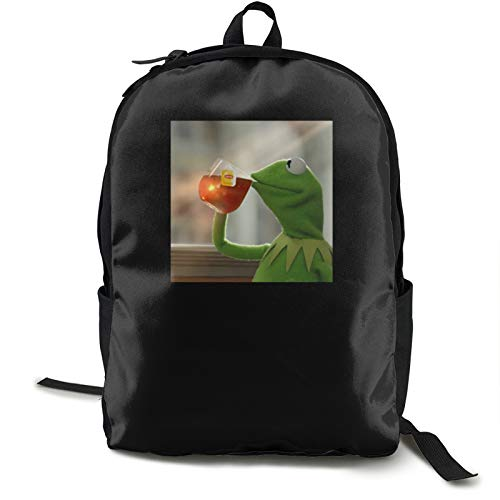 Dansony Ker_M_It The Frog Backpack Campus Bag Casual Backpack Gym Travel Hiking Canvas Backpack