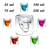 Totenkopf Schnapsglas, Kristall Schädel Schnapsgläser, Totenkopf Whiskyglas Shot Glasses, Skull Glas Head Shot, Totenkopf Trinken Wein Whisky Vodka Glas Tasse, Drink Cocktail Beer Cup Früher, 1x250ml
