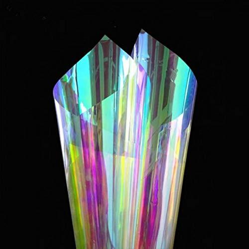 StickersLab - Transparente Folie Dichroic, Regenbogen-Aufkleber für Fensterscheiben, die Farbe ändern (138 cm x 1 m, Blaze (kalt)