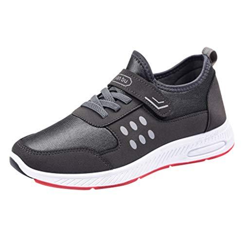 Bluestercool - Zapatillas deportivas para hombre, transpirables, color liso, para ciclismo, fútbol, fútbol, fútbol, fútbol, senderismo, correr, voleibol, botas de voleibol, color negro, azul, gris