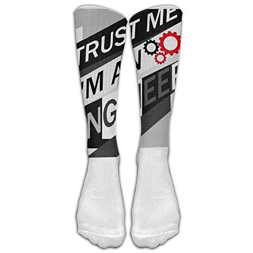 Eybfrre Trust Me I'm An Engineer Save Time Custom Knee High Socks Football Baseball Long Stockings For Men Women (Long 50cm