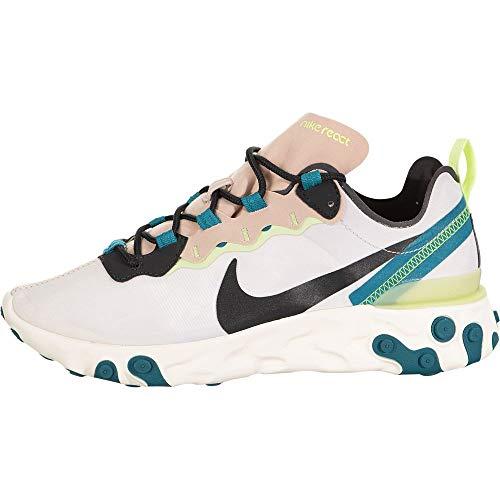 Nike React Element 55, Running Shoe Womens, Piedra Fósil/Gris...