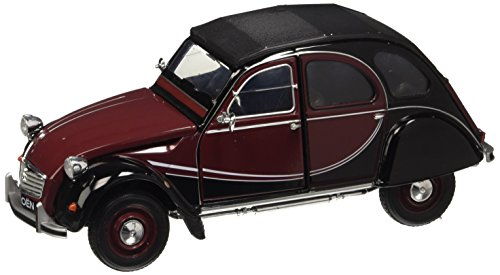 Welly Modellauto 1:24 Citroen 2 CV 6 Charleston dunkelrot/schwarz