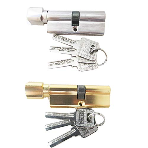 Cilindro di chiusura con 3 chiavi di sicurezza, 2 pezzi cilindro profilato, 35/35(70 mm), serratura a cilindro