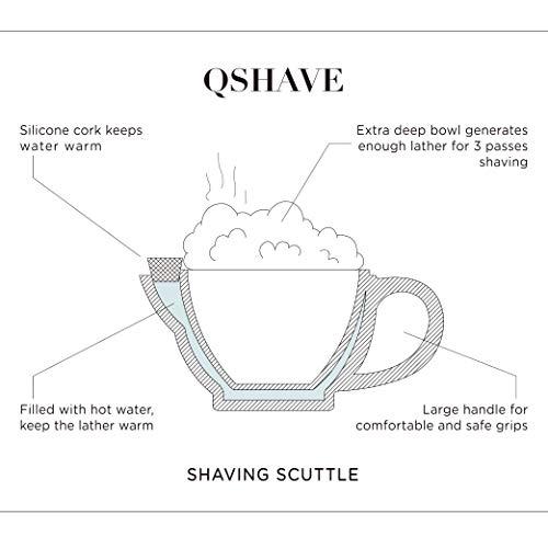 QSHAVE Bol de Rasage en Céramique de Type Scuttle Garder Sa Mousse au Chaud, Grande Taille Bol à...