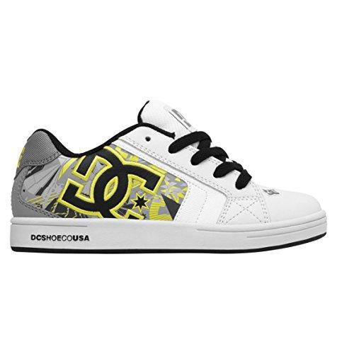 DC Net Se - K - Zapatillas de Skateboarding de Cuero Nobuck Unisex niños, Color, Talla 42 2/3