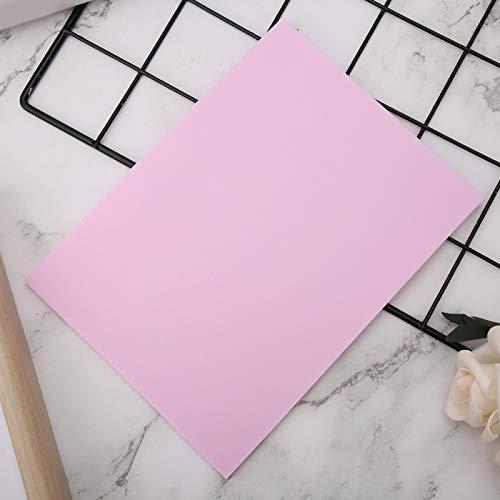 Bloque de sello de goma Caucho fino fino para proyectos de artesanía(Pink)