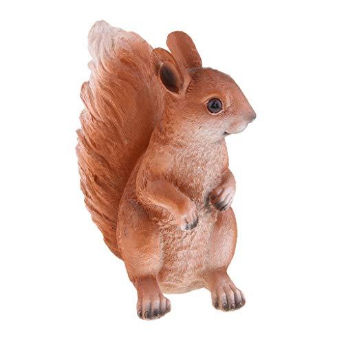 Fenteer Lebensecht Eichhörnchen Wetterfest Gartenfigur Dekofigur, Handbemalt - Recht