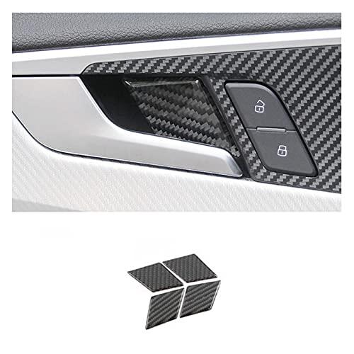 Ltxdczs para Audi A3 8V A4 B8 A5 Q3 Q5 A6 C7 Interior de Fibra de Carbono Puerta decoración de Cuenco Cubierta embellecedor Pegatinas Accesorios de Coche Estilo de Coche