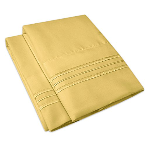 1500 Supreme Collection Bettlaken-Set, 4-teilig, 12 Farben Standard Pillowcase Camel