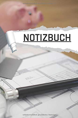 NOTIZBUCH: Motiv Immobilien liniert I DIN-A5 I 120 Seiten in Cremefarben I Journal
