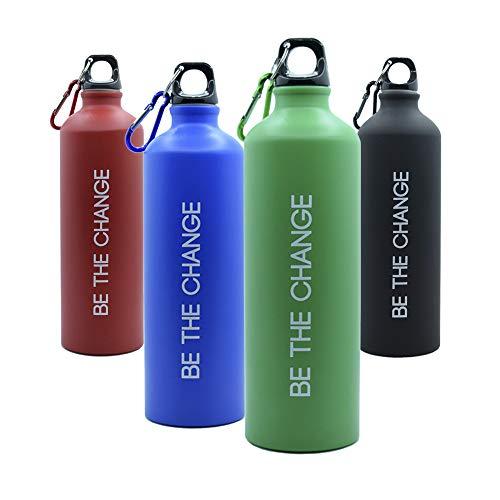Botella de Agua 800ml, Aluminio - Muy Ligera, Ideal para Deporte, Trabajo y Colegio (Green)