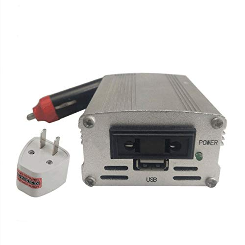 healthwen XYA200 700W Color Plateado Convertidor de Potencia Convertidor de Coche 12V Adaptador de Corriente de Entrada