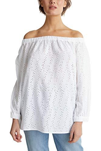 ESPRIT Damen 040EE1F321 Bluse, 100/WHITE, 36