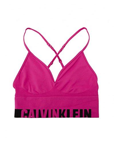 Calvin Klein Bralette Unlined Longline Multiway Corsé, Violeta (Striking (Black Logo) 1ki), XS para Mujer
