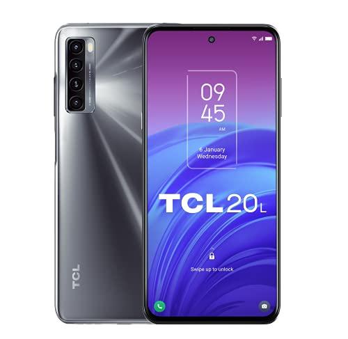 "TCL 20L 128GB - Smartphone de 6.67"" FHD+ con NXTVISION (Qualcomm Snapdragon 662, 4GB/128GB Ampliable MicroSD, Dual SIM, Cámaras 48MP+8MP+2MP+2MP, Batería 5000mAh, Android 11) Negro"