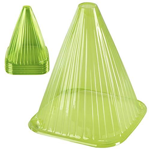 ONVAYA® Pflanzenhut-Set | Grün |Dots | Pflanzenschutz vor Witterung & Tieren | Pflanzglocke aus PVC | Pflanzenschutzhaube (Grün - 25 Stück)