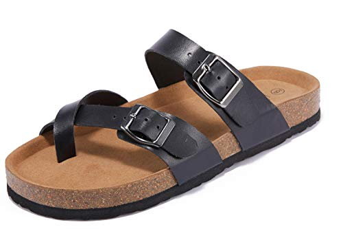(45% OFF) Women's Cross Toe Double Buckle Leather Sandal $16.49 – Coupon Code