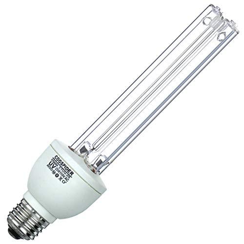 UVC Bulb UV Germicidal Lamp UV-C Light with Ozone E26 25w 110v Covers up to 400sq ft. (CTUV-25)