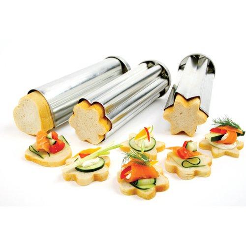 Norpro Blech Canapé-Brotformen, 1 Stück, 3 Stück