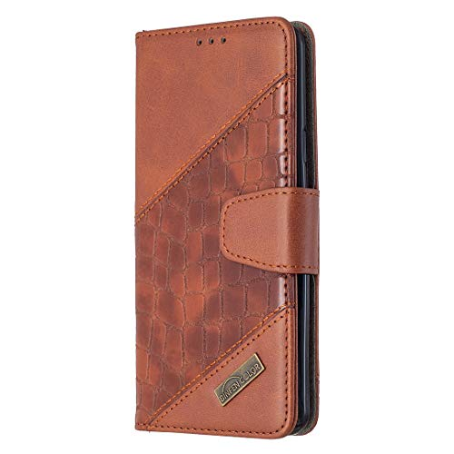 Leather Wallet Case for Samsung Galaxy S9+ (S9 Plus) PU Leather Wallet Phone Case Flip TPU Shockproof Shell Slim Fit Protective Cover for Galaxy S9+ (S9Plus) - EYBF060255 Brown