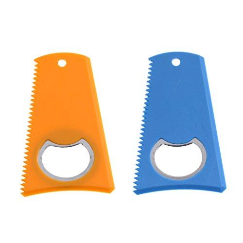 SM SunniMix 2 Piezas Azul + Amarillo 8 X 5,2 Cm Tabla de Surf para Surf Peine de Cera Removedor de Raspador de Cera con