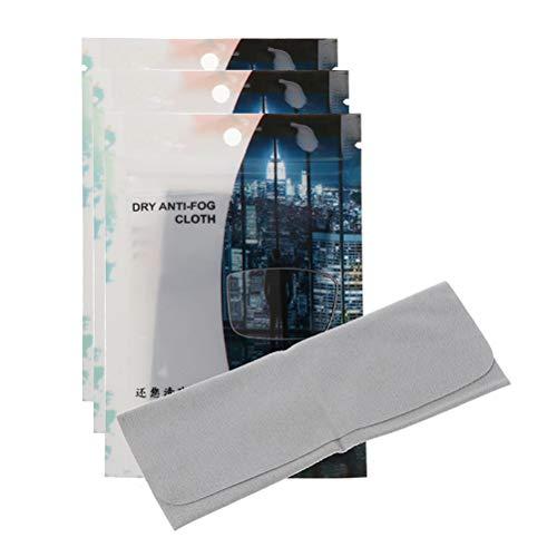 Delaspe - Gafas de tela antivaho (3 unidades, 15 x 15 cm, tejido antivaho de cristal, reutilizables, para gafas de natación, cristal de ventana