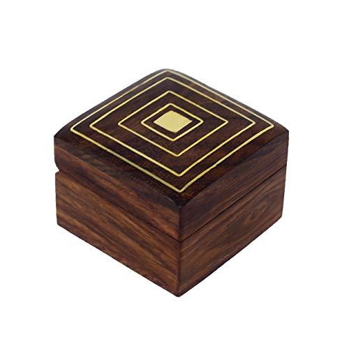 Joyero de madera hecho a mano, de Hashcart, artesanado indio