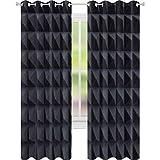 Yuazhoqi cortinas opacas para dormitorio estudio de grabación de sonido amortiguamiento acústico de espuma de 52 pulgadas x 241 cm cortinas de ventana para sala de estar