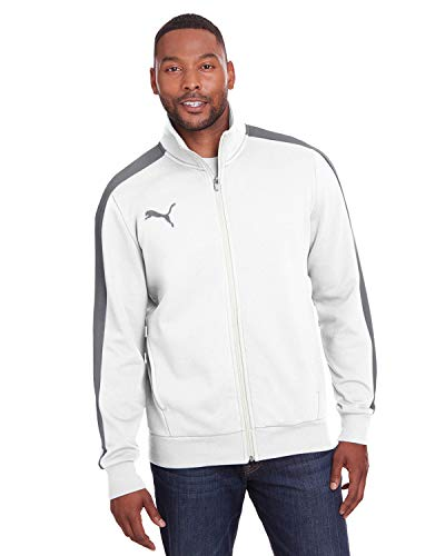 PUMA Sport Adult P48 Fleece Track Jacket, BRT WHT/QUT SHD, XXX-Large