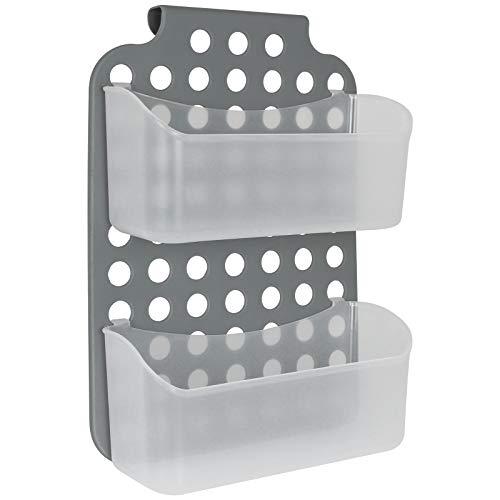 Duschregal 2 Ablagen zum hängen Duschkorb Duschablage Ablage Badezimmer Hängeregal