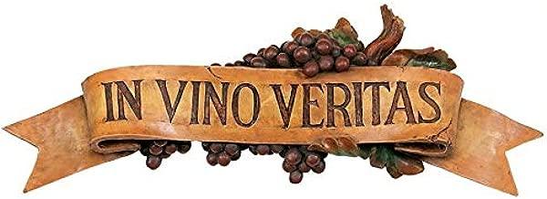 Design Toscano In Vino Veritas Wall Plaque