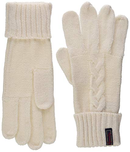 Superdry Damen LANNAH CABLE GLOVES Handschuhe, Grau (Winter Marl P63), Einheitsgröße