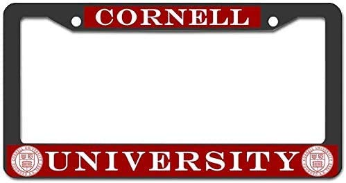 Chawuux Cornell University License Plate Frame Metal Custom Car Tag Frame Screws for US Vehicles