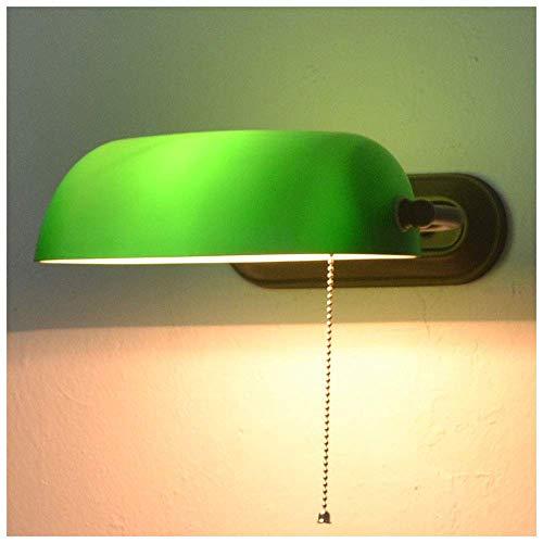 Lámpara de pared estilo Tiffany de 8.7 pulgadas, pantalla de cristal hecha a mano, luz de pared para interiores, lámparas de lectura de cabecera de dormitorio con interruptor de cordón para sala de e