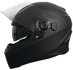 Kask z kasku kasku motocyklowego kask rolkowy RALLOX 09B rozmiar M matowy czarny z osłoną przeciwsłoneczną