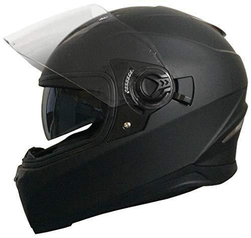 Integralhelm Helm Motorradhelm Rollerhelm RALLOX 09B Größe XL matt schwarz mit Sonnenvisier