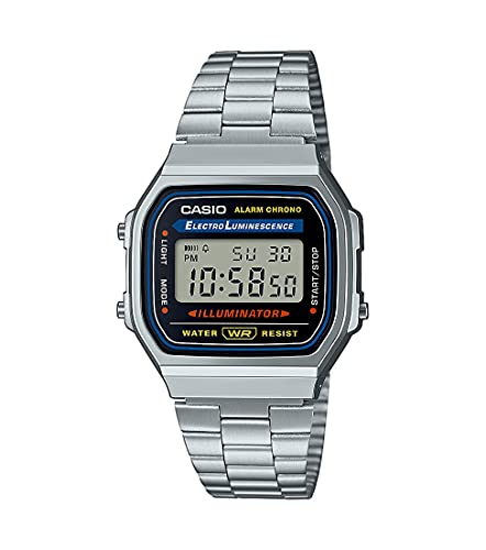 Casio A168WA-1YES - Reloj , correa de acero inoxidable chapado color metalizado