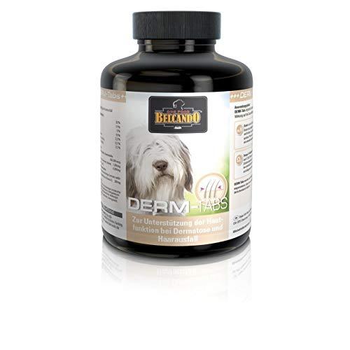 Belcando DERM-Tabs [225 STK.] | Unterstützung bei Haarausfall, Dermatose, stumpfes Fell | Nahrungsergänzung für Hunde