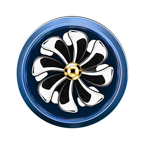 WSWJ LED Aire Aire Acenuado Auto Outlet Perfume Perfume Difusor Clip Fresh Vent Air Aromatherapy Fragrance Car Auto Accesorios, 1pcs (Color : Blue)