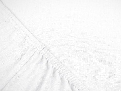 #20 npluseins Kinder-Spannbettlaken, Spannbetttuch, Bettlaken, 70×140 cm, Weiß - 5
