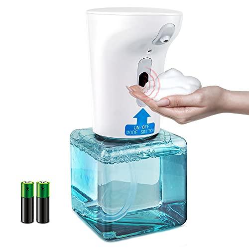 Dispenser di Sapone Automatico, Sensore a Infrarossi Senza Contatto, Schiumogeno, Bottiglia per Pompa di Erogazione del Sapone a Mani Libere da 250ml per Bagno, Cucina, Ufficio